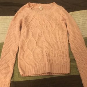 Sweaters - Clearance! Pink metallic cable knit sweater